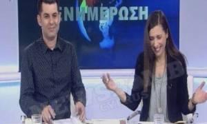 «Πέθανε» στα γέλια η παρουσιάστρια του ΡΙΚ! Δείτε τι έγινε On Air! (video)