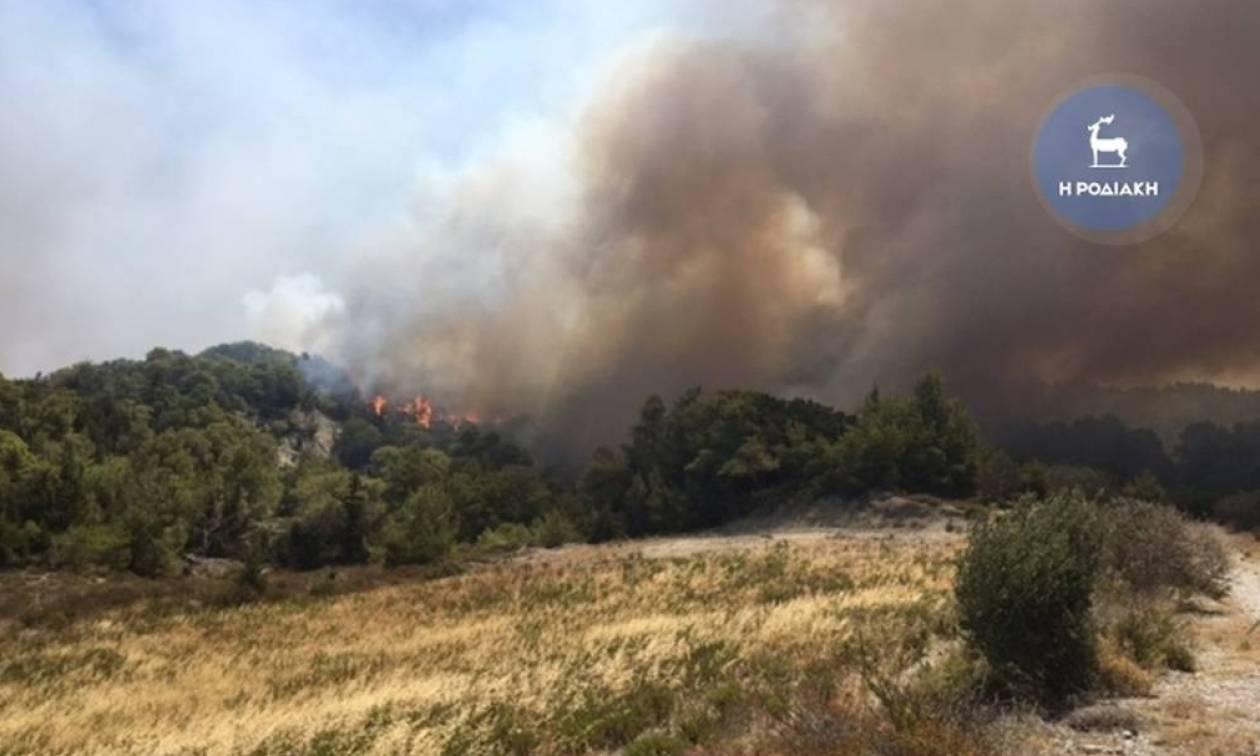 Πυρκαγιά στη Ρόδο - ΤΩΡΑ