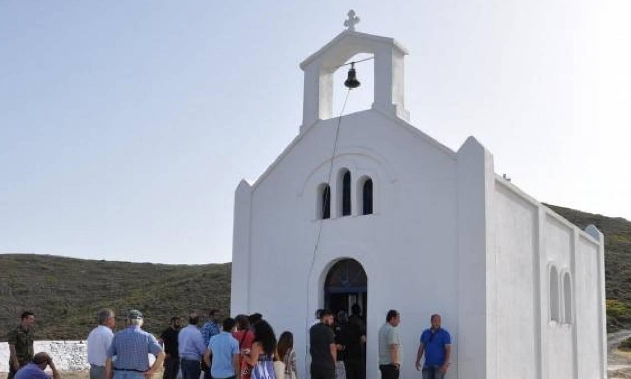 Λειτουργία Μητροπολίτη Χίου στην Παναγία Οινουσσών