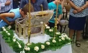 Νέα λειψανοθήκη με απότμημα λειψάνου του Αγ. Αποστόλου Ανδρέου