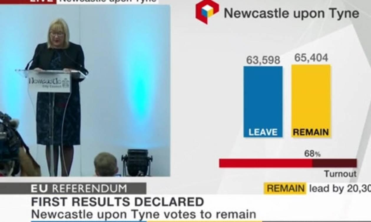 Δημοψήφισμα Βρετανία: Το Νιούκαστλ αποφάσισε παραμονή στην ΕΕ