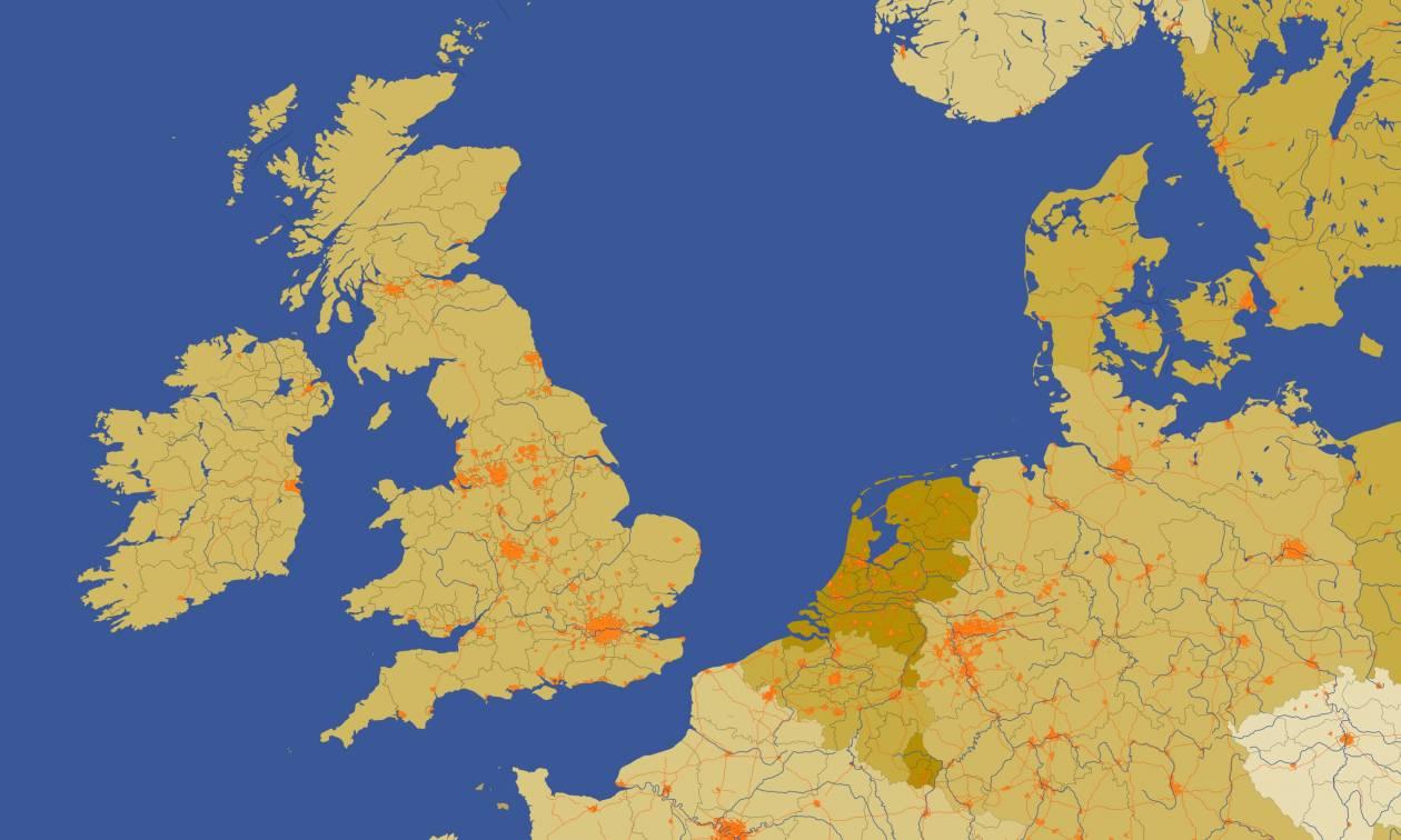 Brexit Αποτελέσματα: Δείτε αναλυτικά πώς ψήφισε η Βρετανία (χάρτης)