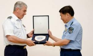 Επίσκεψη Κινέζων αξιωματικών στο ΓΕΑ (pics)