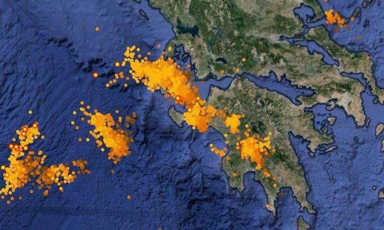 ΤΩΡΑ: To Lake effect «χτυπά» Ιόνιο και δυτική Πελοπόννησο (vid)