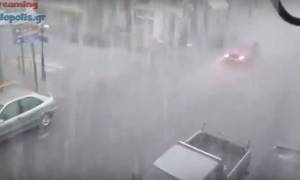 Lake Effect: Μπουρίνι «βούλιαξε» τη Μεγαλόπολη (vid)