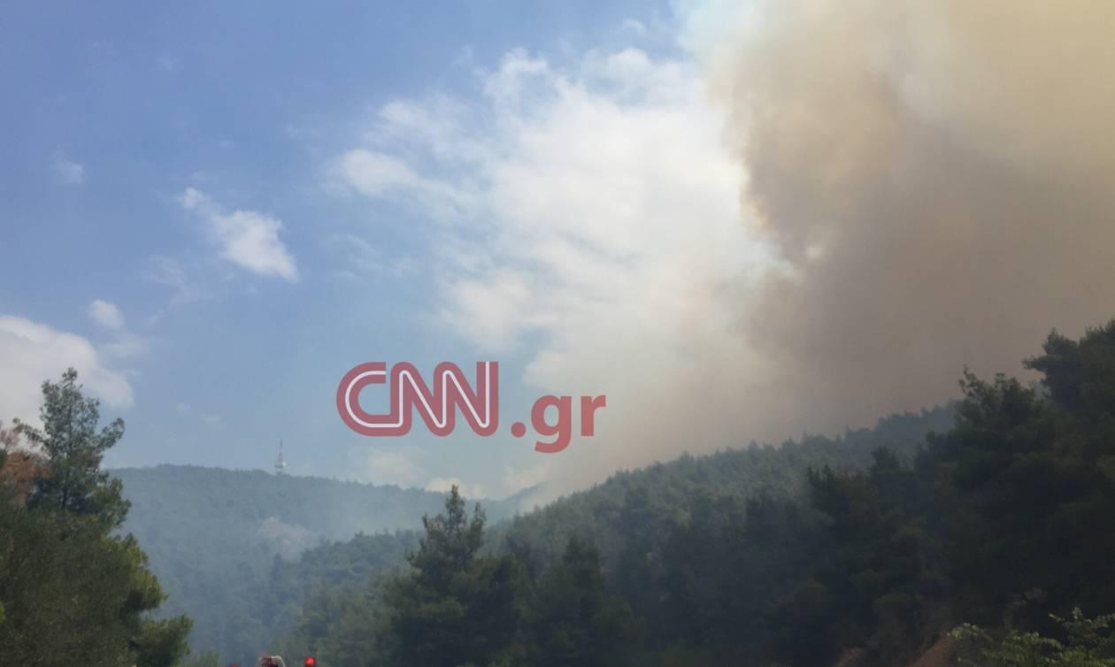 «Μάχη» με τις φλόγες σε Δερβενοχώρια και Γούρνες Ηρακλείου (vid+pics)