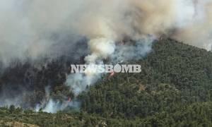 Φωτιά Δερβενοχώρια: Συνεχίζεται ο πύρινος εφιάλτης