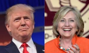 Προεδρικές εκλογές ΗΠΑ 2016: Προβάδισμα 12 μονάδων της Χίλαρι έναντι του Τραμπ