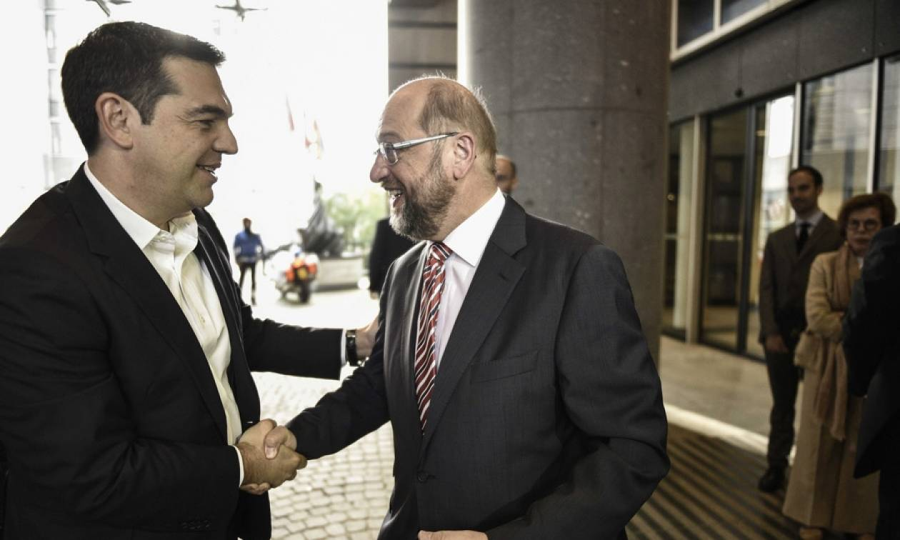 Τσίπρας και Σουλτς συμφωνούν για ενίσχυση της κοινωνικής ατζέντας στην ΕΕ
