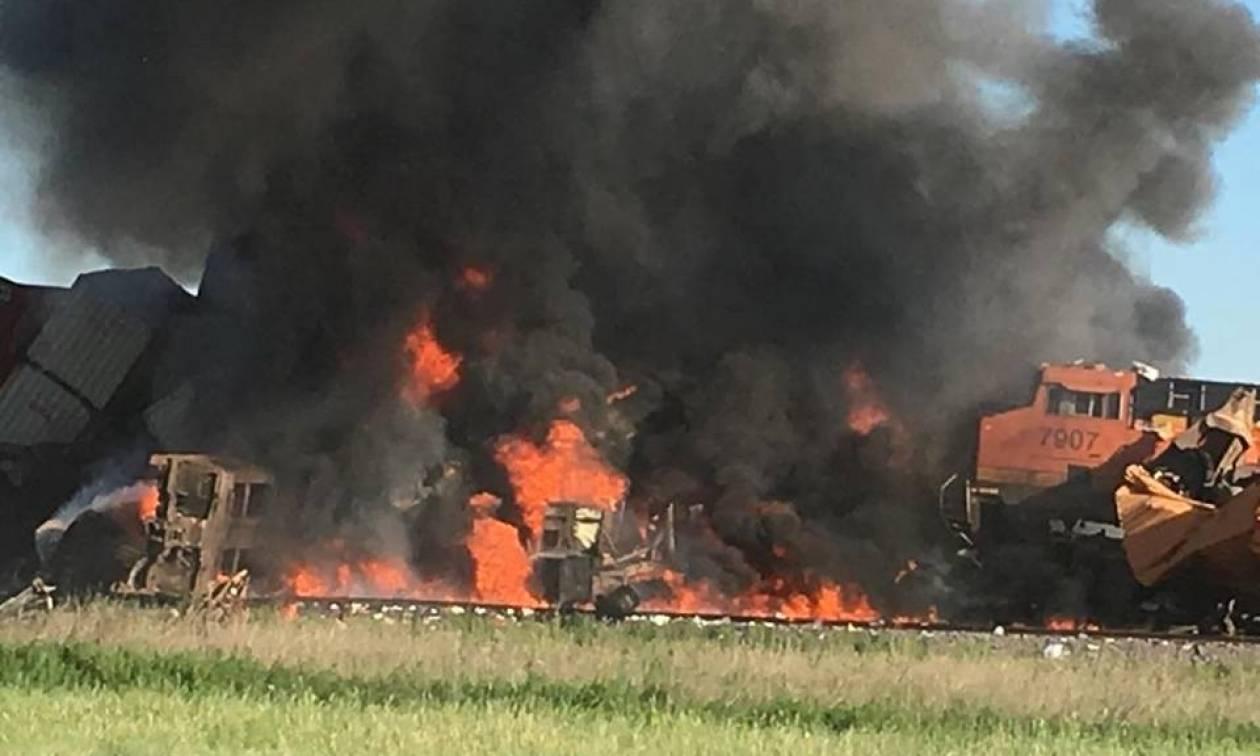ΗΠΑ: Σφοδρή σύγκρουση τρένων στο Τέξας (pics+vid)