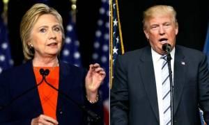 ΗΠΑ: Στις δύο μονάδες μειώθηκε η διαφορά μεταξύ Κλίντον-Τραμπ