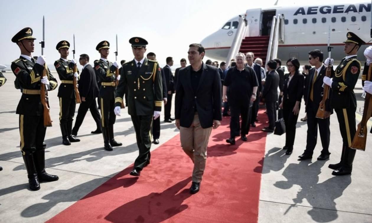 Οι πρώτες φωτογραφίες από την επίσκεψη Τσίπρα στο Πεκίνο