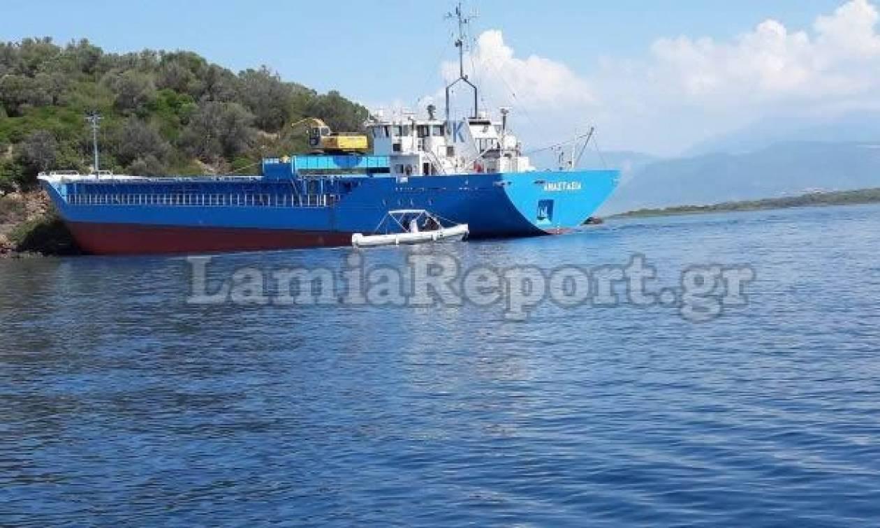 Εύβοια: Πλοίο προσάραξε στα Λιχαδονήσια - Δείτε τις φωτογραφίες