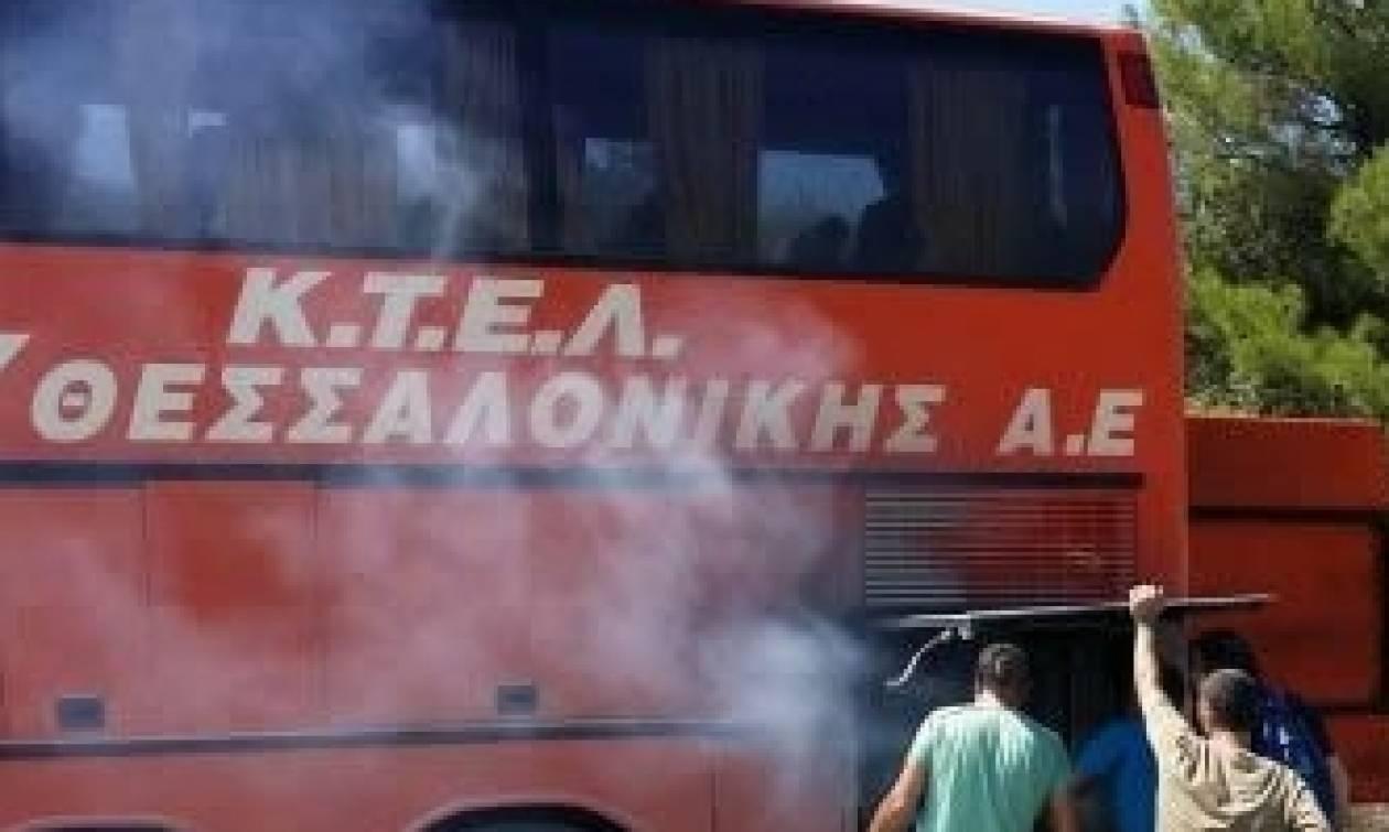 Φωτιά σε λεωφορείο των ΚΤΕΛ