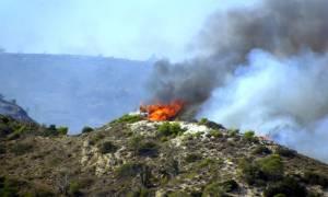 Μεγάλη φωτιά μαίνεται στο Ηράκλειο