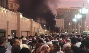 Σκηνές φρίκης: Διάσπαρτα ανθρώπινα μέλη από επίθεση καμικάζι στο Τέμενος του Μωάμεθ (vids+pics)