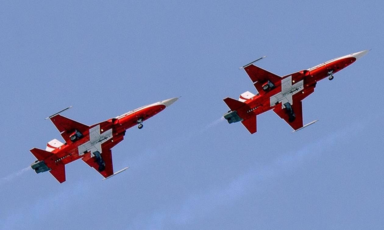 Ελβετικά μαχητικά συνόδευσαν πτήση έπειτα από απειλή για βόμβα