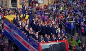 Πανηγυρική υποδοχή της Εθνικής Ισλανδίας με κραυγές των Βίκινγκς! (vid)