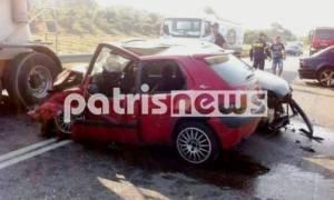 Ηλεία: Καραμπόλα με τρεις τραυματίες στην Ε.Ο. Πύργου - Ολυμπίας