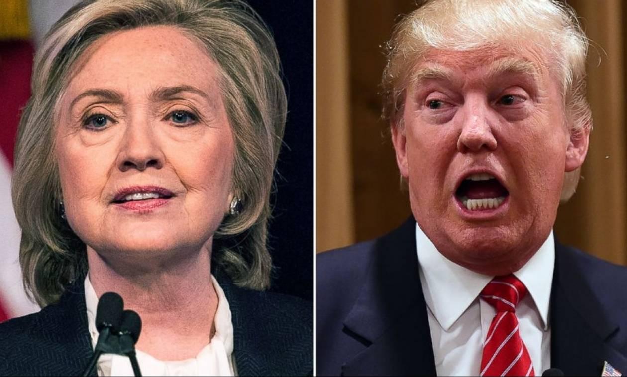 Εκλογές ΗΠΑ: Η Κλίντον διεύρυνε το προβάδισμά της έναντι του Τραμπ σύμφωνα με δημοσκόπηση