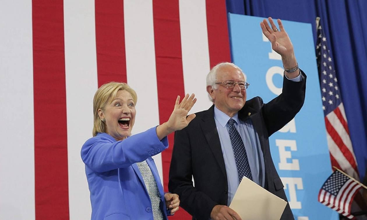 Προεδρικές εκλογές ΗΠΑ 2016: Μαζί για πρώτη φορά Χίλαρι και Σάντερς (vid)