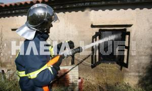 Πύργος: Ήπιε, μέθυσε και έβαλε φωτιά το σπίτι του! (pics)