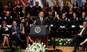 Ντάλας-Ομπάμα: Θρηνούμε λιγότερους νεκρούς σήμερα εξαιτίας των γενναίων αστυνομικών (Pics & Vids)