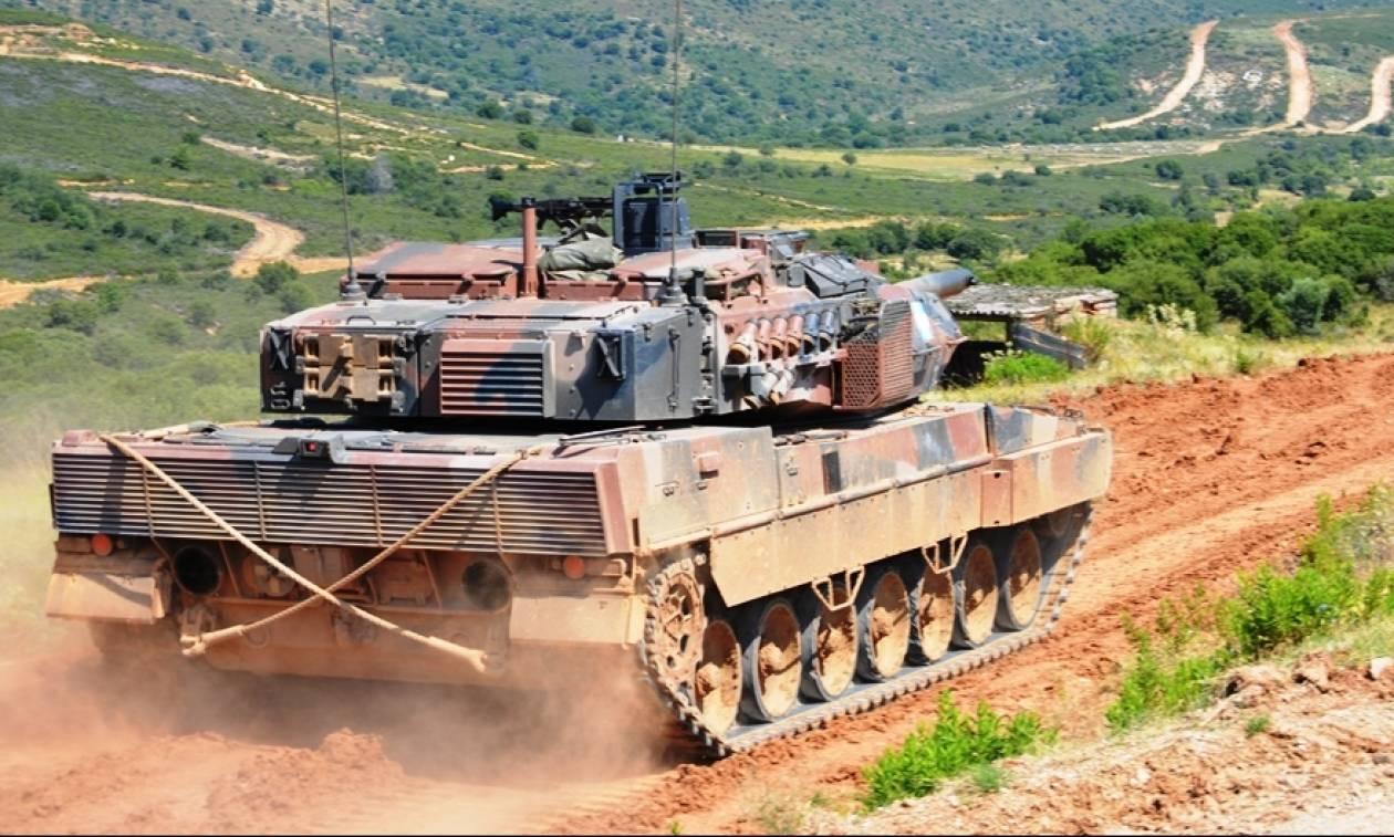 Στρατός ξηράς: Άσκηση της Τεθωρακισμένης Ταξιαρχίας