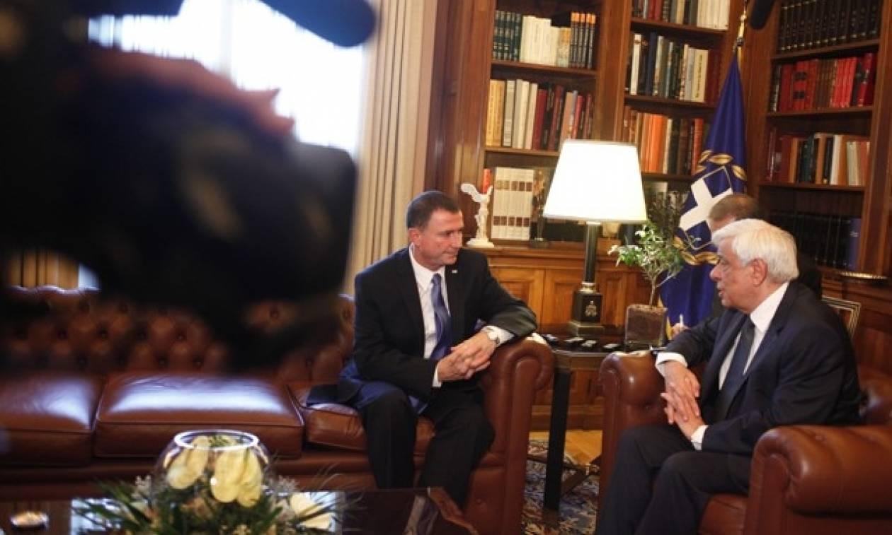Συνάντηση Παυλόπουλου με τον Πρόεδρο της Knesset του Ισραήλ