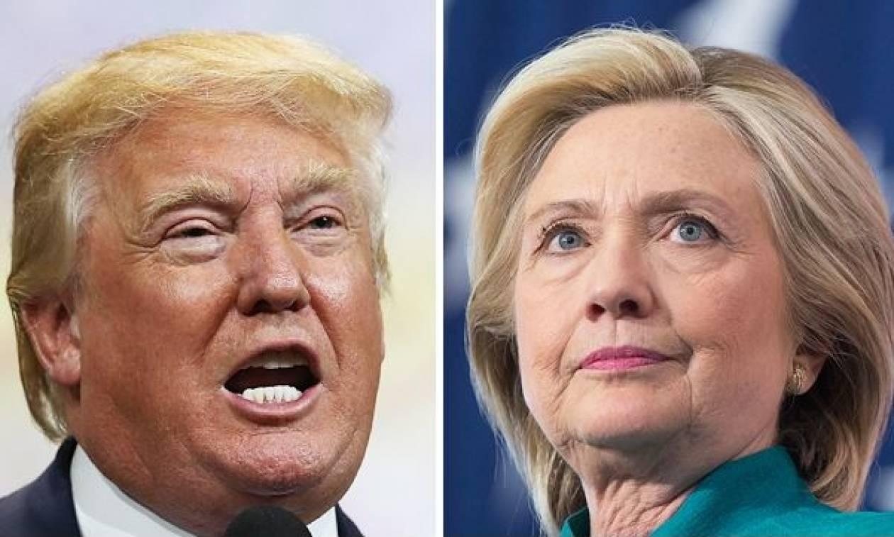 ΗΠΑ: Μάχη στήθος με στήθος Τραμπ και Χίλαρι σε νέα δημοσκόπηση