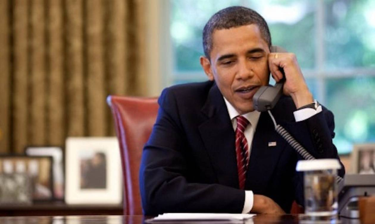 Τηλεφωνική επικοινωνία Ομπάμα - Μέι