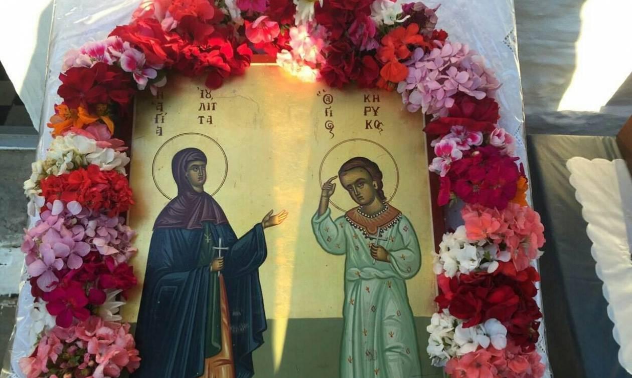 Εορτή των Αγίων Μεγαλομαρτύρων Κηρύκου και Ιουλίττας στα Αμπελάκια