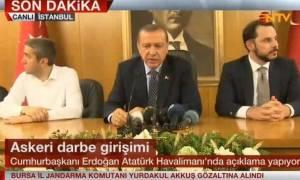 Πραξικόπημα Τουρκία - Ερντογάν: Προσπάθησαν να με σκοτώσουν - Θα το πληρώσουν ακριβά (vids)