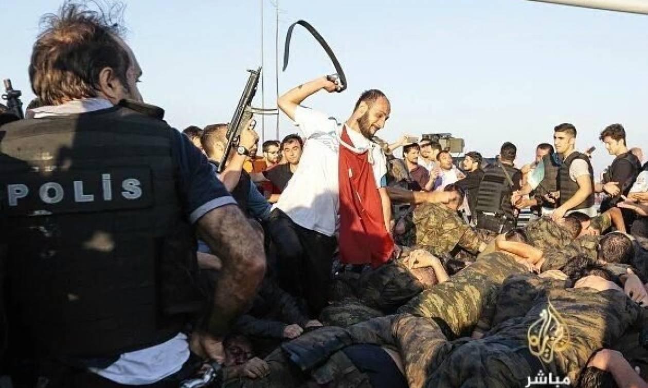 Φρίκη στην Τουρκία: Λιντσάρουν, μαστιγώνουν και σκοτώνουν εν ψυχρώ στρατιώτες (videos+photos)