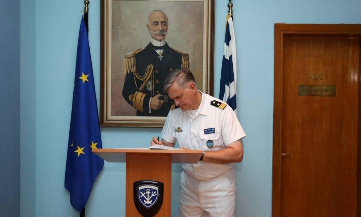 Συνάντηση Αρχηγού ΓΕΝ με τον Διοικητή Standing NATO Maritime Group 2