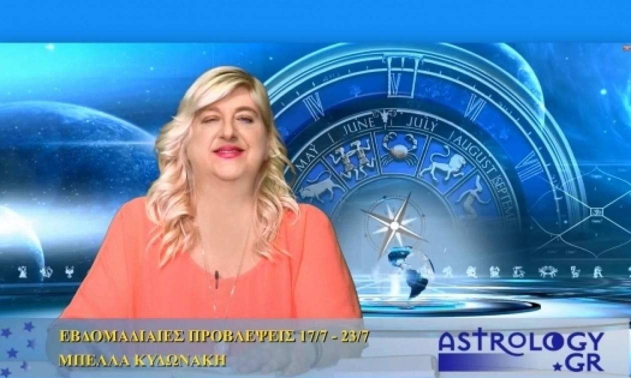 Οι προβλέψεις της εβδομάδας από την Μπέλλα Κυδωνάκη (vid)