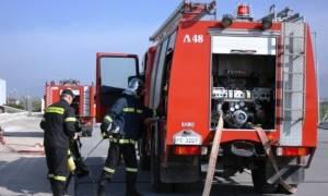 Υπό μερικό έλεγχο η φωτιά σε εταιρεία ελαστικών στη Θεσσαλονίκη