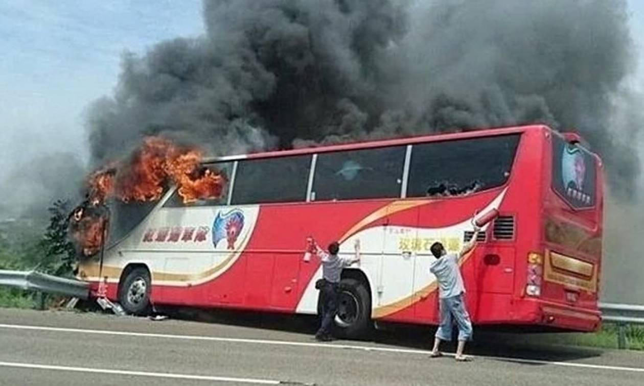 ΦΡΙΚΗ στην Ταϊβάν: Κάηκαν ζωντανοί 26 επιβάτες λεωφορείου – Σοκαριστικές εικόνες
