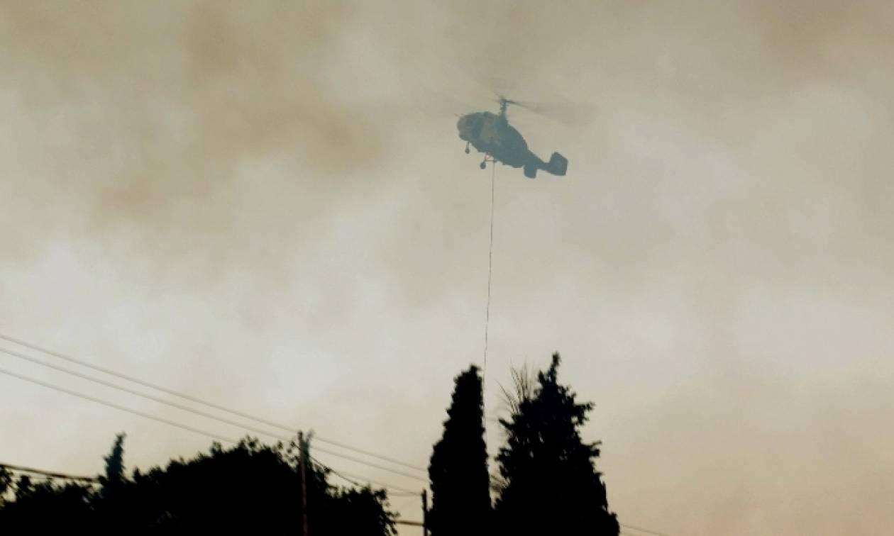 Σε ύφεση οι πυρκαγιές σε Πιερία και Λάρισα