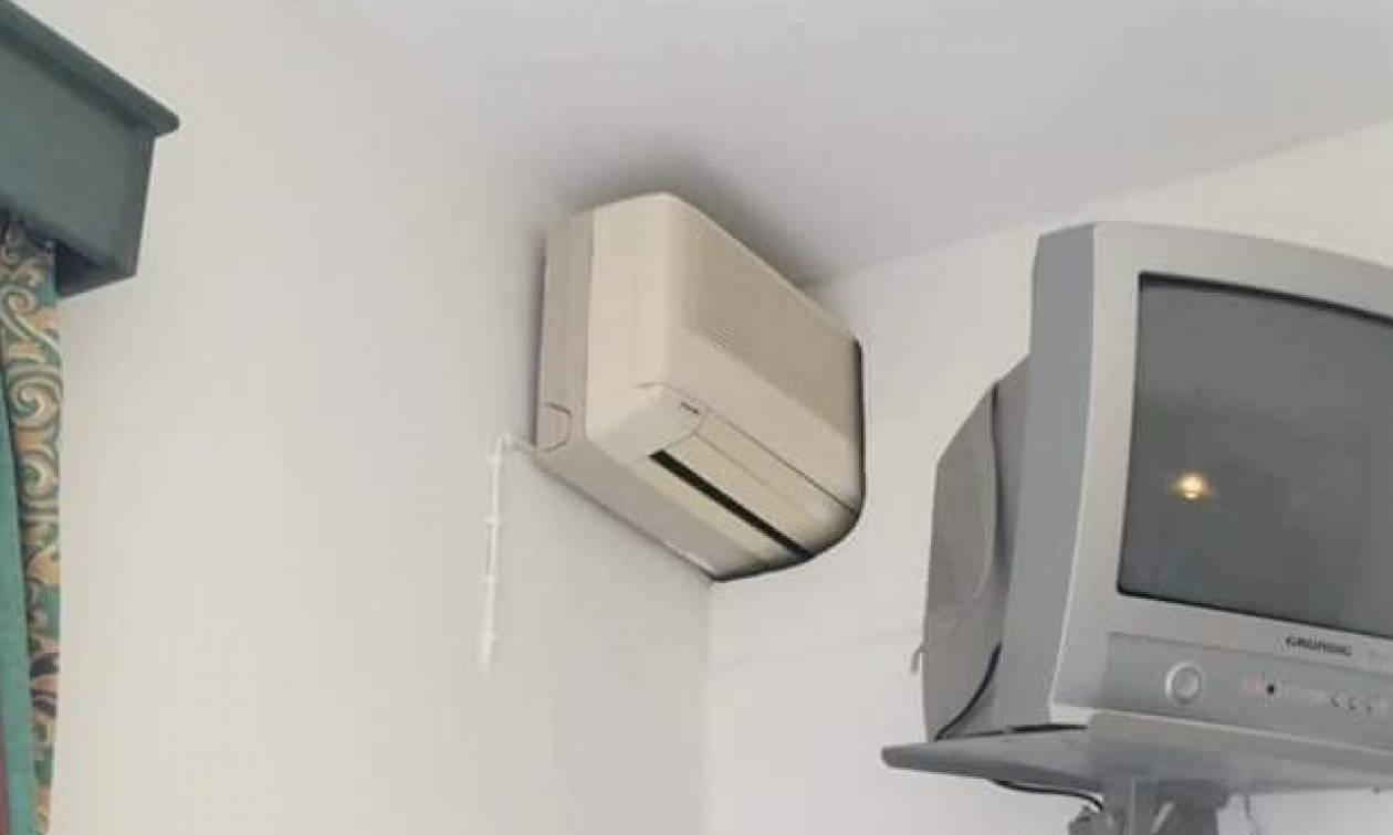 Κρήτη: Δείτε το άλλο μισό του κλιματιστικού που έκανε θραύση στο Internet (photo)