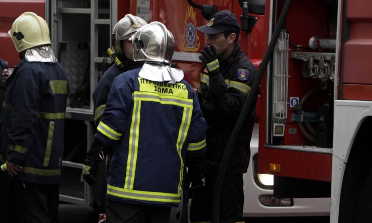 Συναγερμός στο Τυμπάκι - Μεγάλη φωτιά σε συσκευαστήριο