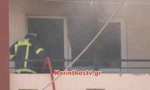 Τραγωδία στην Κόρινθο: Κάηκε ζωντανός μέσα στο διαμέρισμά του (vid)