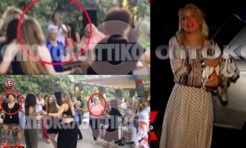 Μενεγάκη - Παντζόπουλος: Βίντεο από το γλέντι στα Άχλα για τη γιορτή της κόρης τους