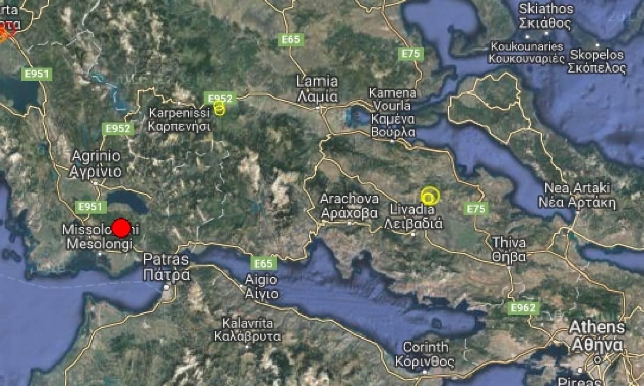 Σεισμός στο Μεσολόγγι