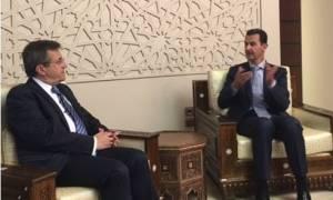 Επίσκεψη Νικολόπουλου στη Συρία – Συνάντηση με τον Μπασάρ αλ Άσαντ