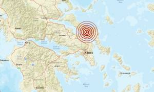 Σεισμός 3,1 Ρίχτερ ανατολικά της Χαλκίδας (pic)