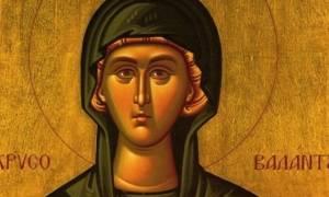 Οσία Ειρήνη η Χρυσοβαλάντου-Τα θαυματουργά μήλα της Αγίας