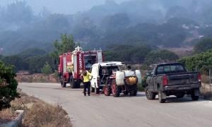 Μυτιλήνη: Φωτιά κοντά στο hot spot της Μόριας