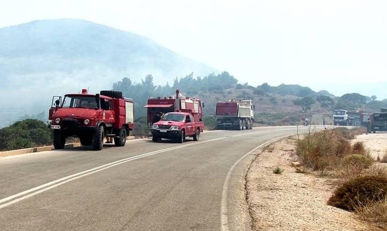 Φωτιά στον Αγ. Νικόλαο Κρήτης - Απειλείται οικισμός