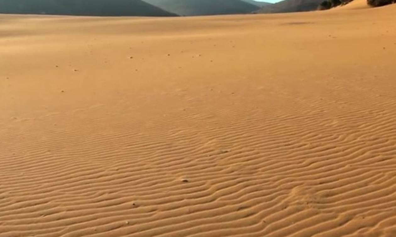 Αυτή η έρημος δεν είναι η Σαχάρα και θα τη βρείτε σε ελληνικό νησί. Σε ποιο; (pics + vid)